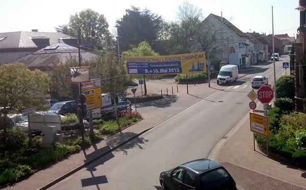 Naaheweinstraße - Blick aus dem Gemeindebüro auf das bereits sanierte Stück der ehemaligen B 48