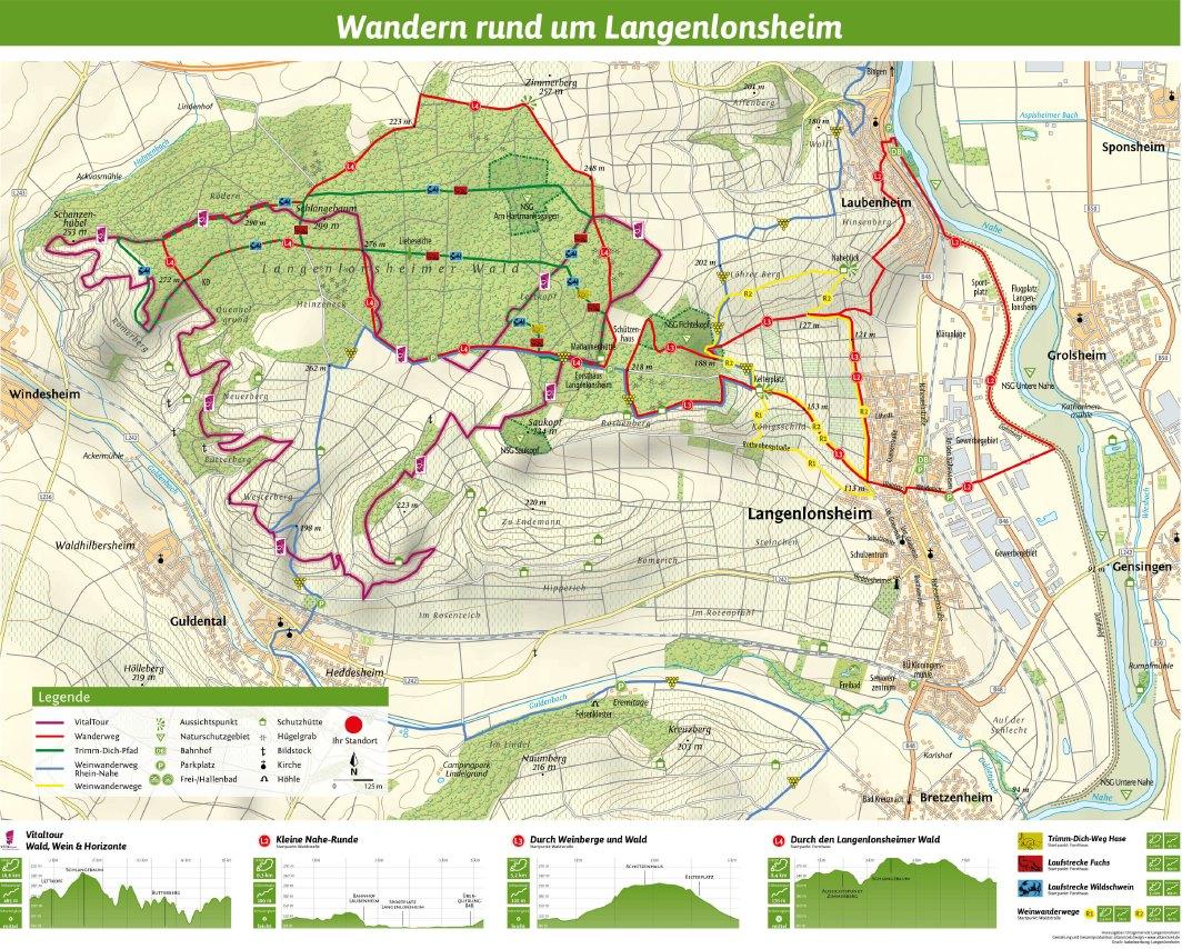 Wanderkarte rund um Langenlonsheim